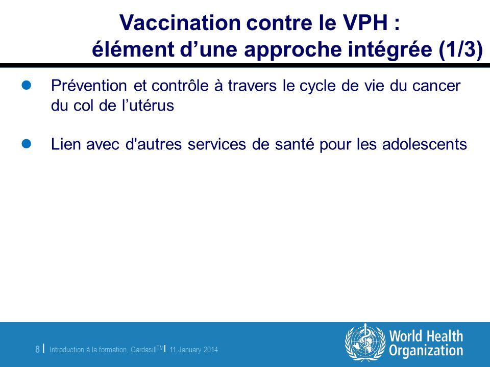 Vaccination contre le VPH : élément d'une approche intégrée (1/3)