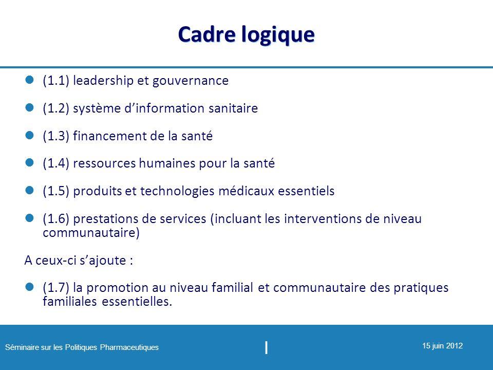 Cadre logique (1.1) leadership et gouvernance