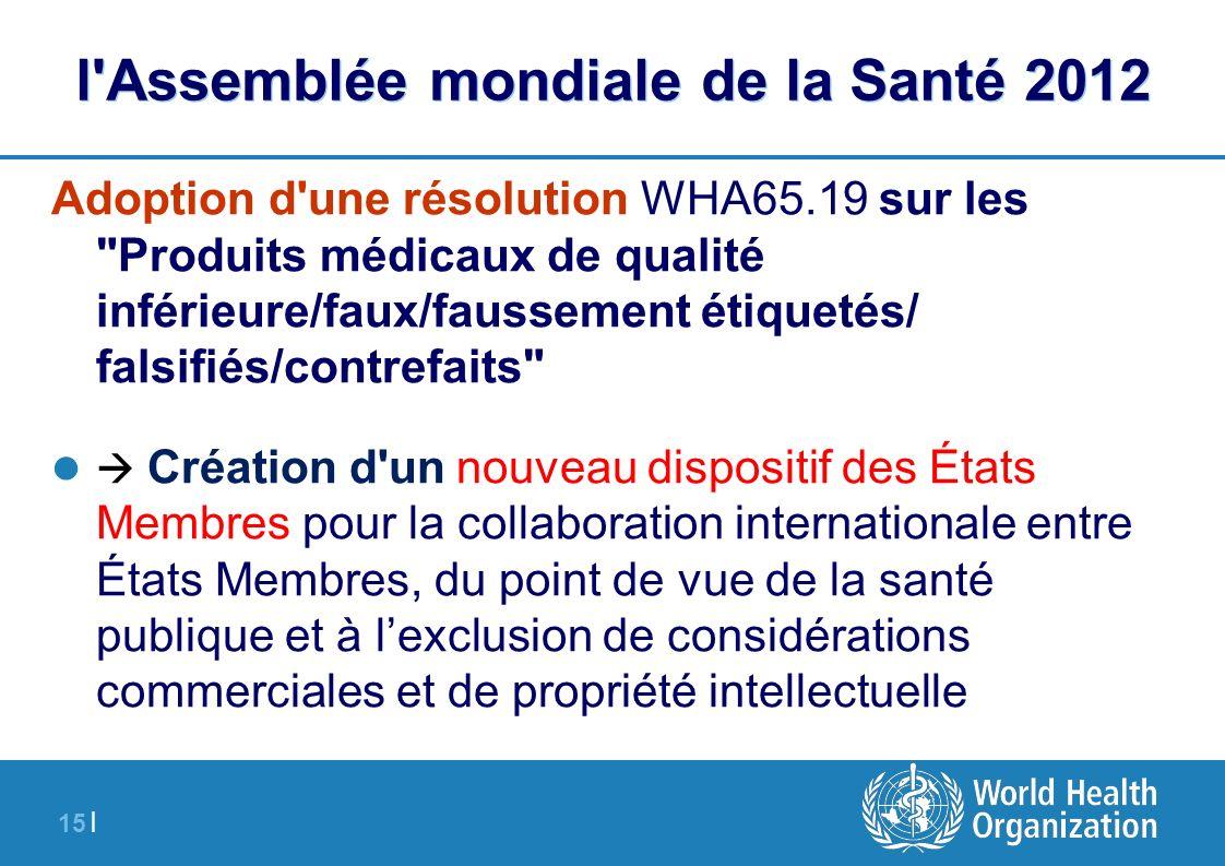 l Assemblée mondiale de la Santé 2012