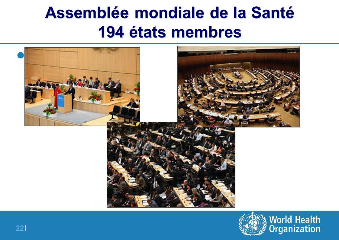 Assemblée mondiale de la Santé 194 états membres
