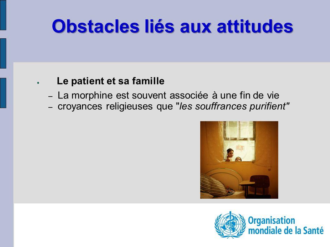 Obstacles liés aux attitudes