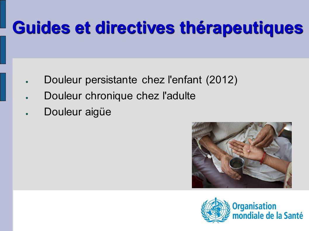 Guides et directives thérapeutiques