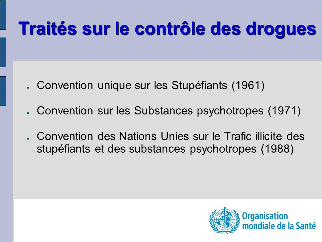 Traités sur le contrôle des drogues