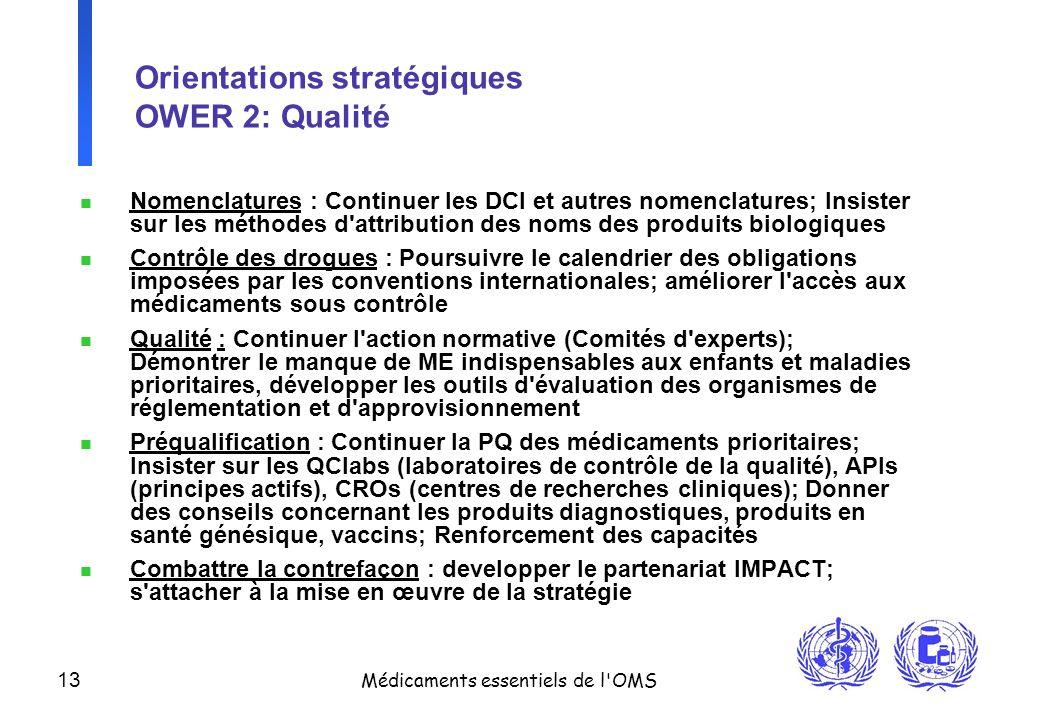 Orientations stratégiques OWER 2: Qualité