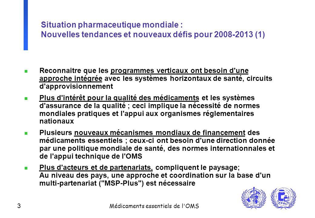 Situation pharmaceutique mondiale : Nouvelles tendances et nouveaux défis pour 2008-2013 (1)