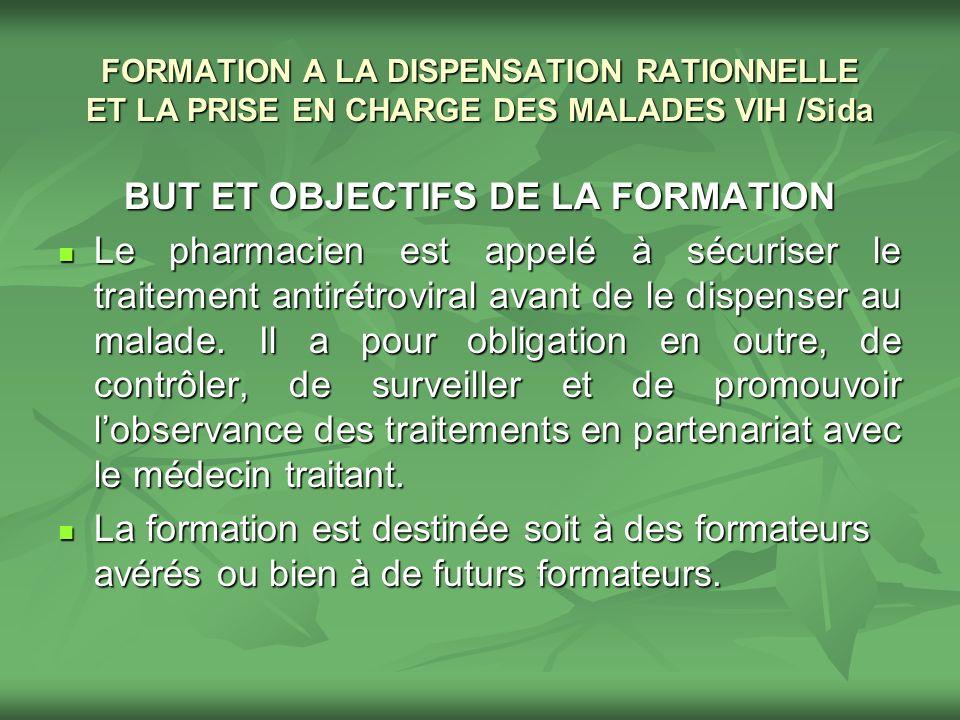 BUT ET OBJECTIFS DE LA FORMATION