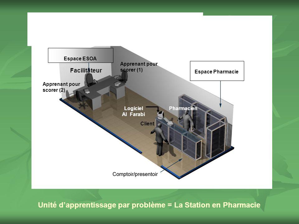 Unité d'apprentissage par problème = La Station en Pharmacie