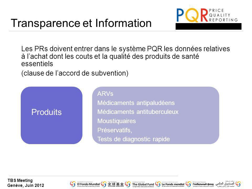 Transparence et Information