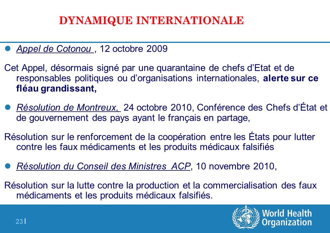 DYNAMIQUE INTERNATIONALE