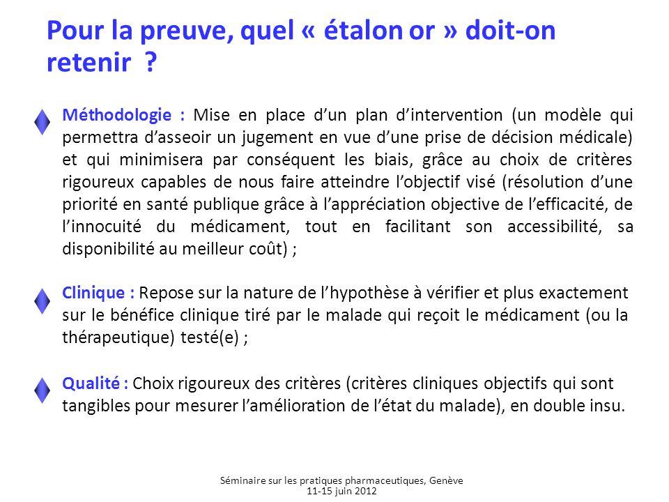 Séminaire sur les pratiques pharmaceutiques, Genève 11-15 juin 2012