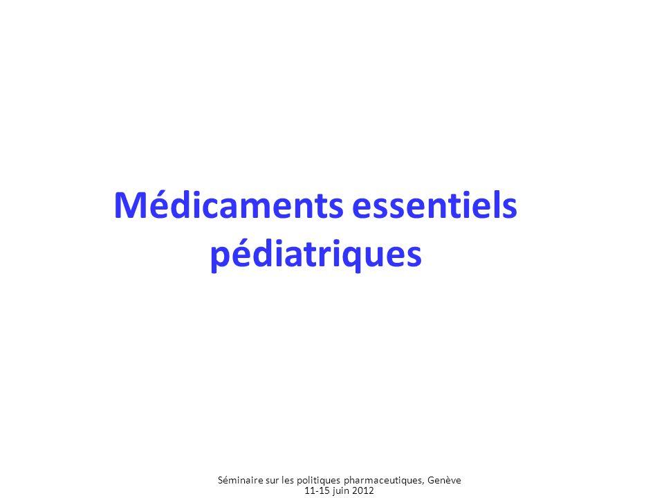 Médicaments essentiels pédiatriques