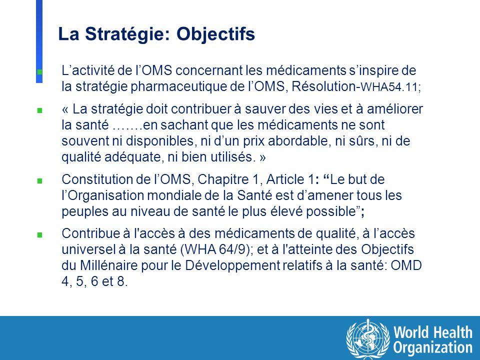 La Stratégie: Objectifs