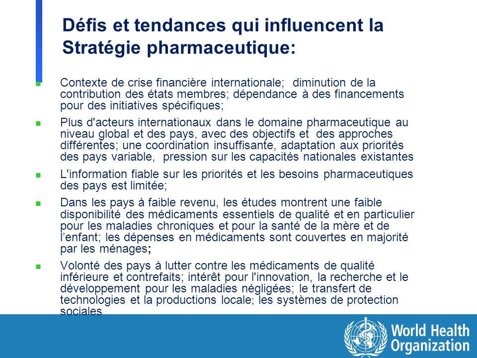 Défis et tendances qui influencent la Stratégie pharmaceutique: