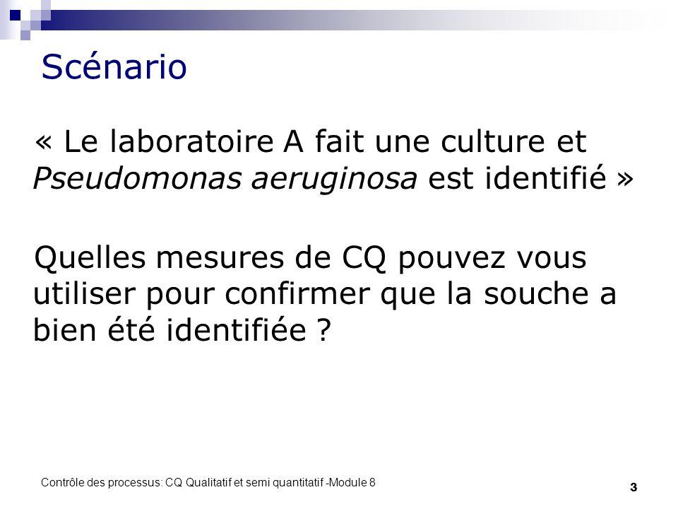 Scénario « Le laboratoire A fait une culture et Pseudomonas aeruginosa est identifié »