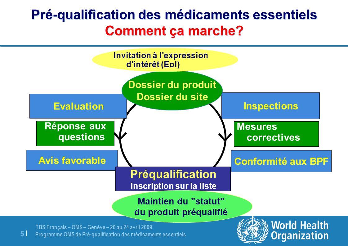 Pré-qualification des médicaments essentiels Comment ça marche
