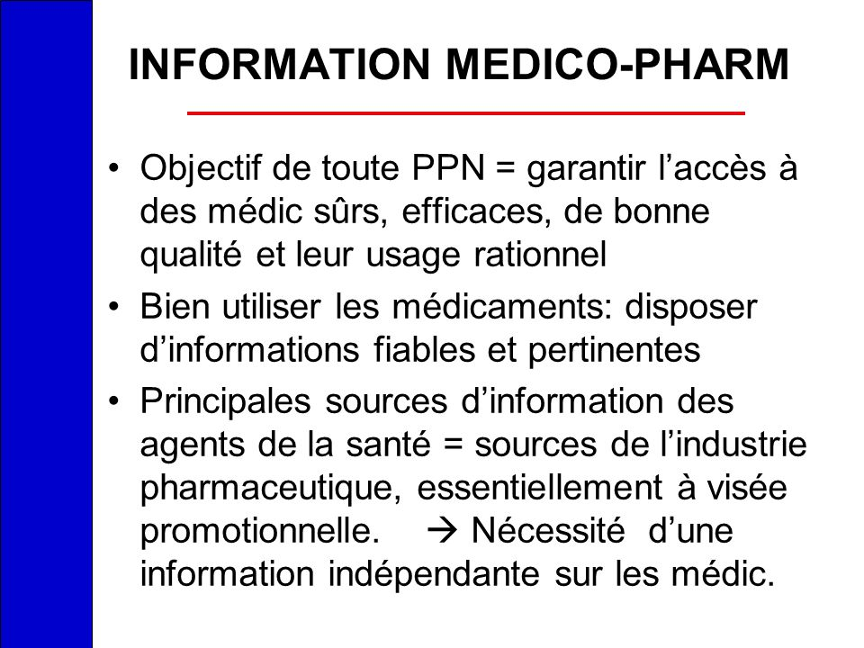 INFORMATION MEDICO-PHARM