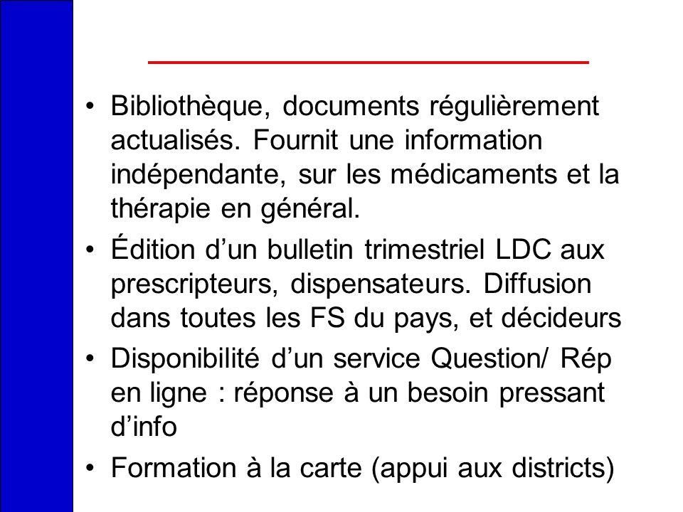 Bibliothèque, documents régulièrement actualisés
