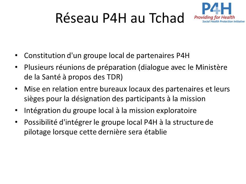 Réseau P4H au Tchad Constitution d un groupe local de partenaires P4H
