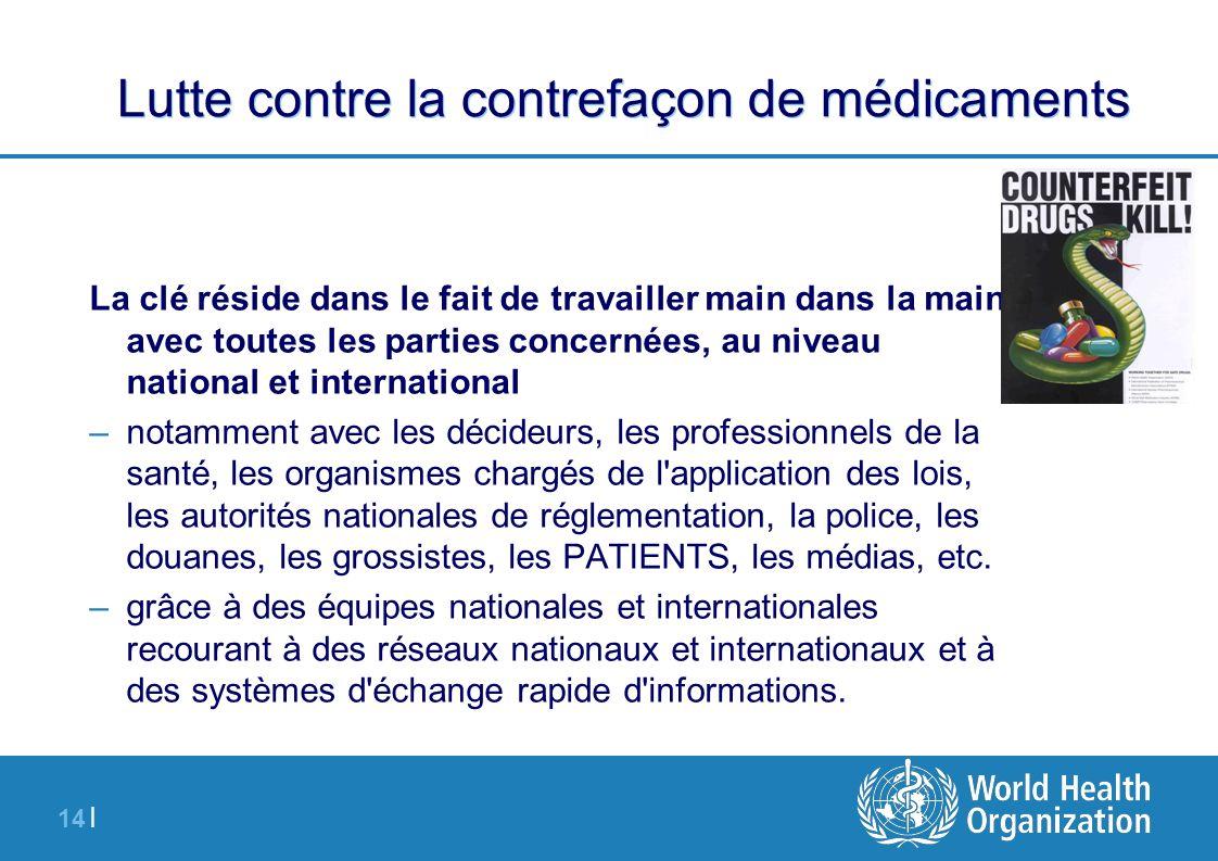 Lutte contre la contrefaçon de médicaments