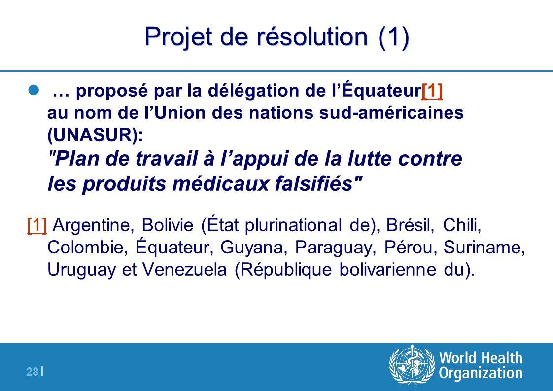 Projet de résolution (1)