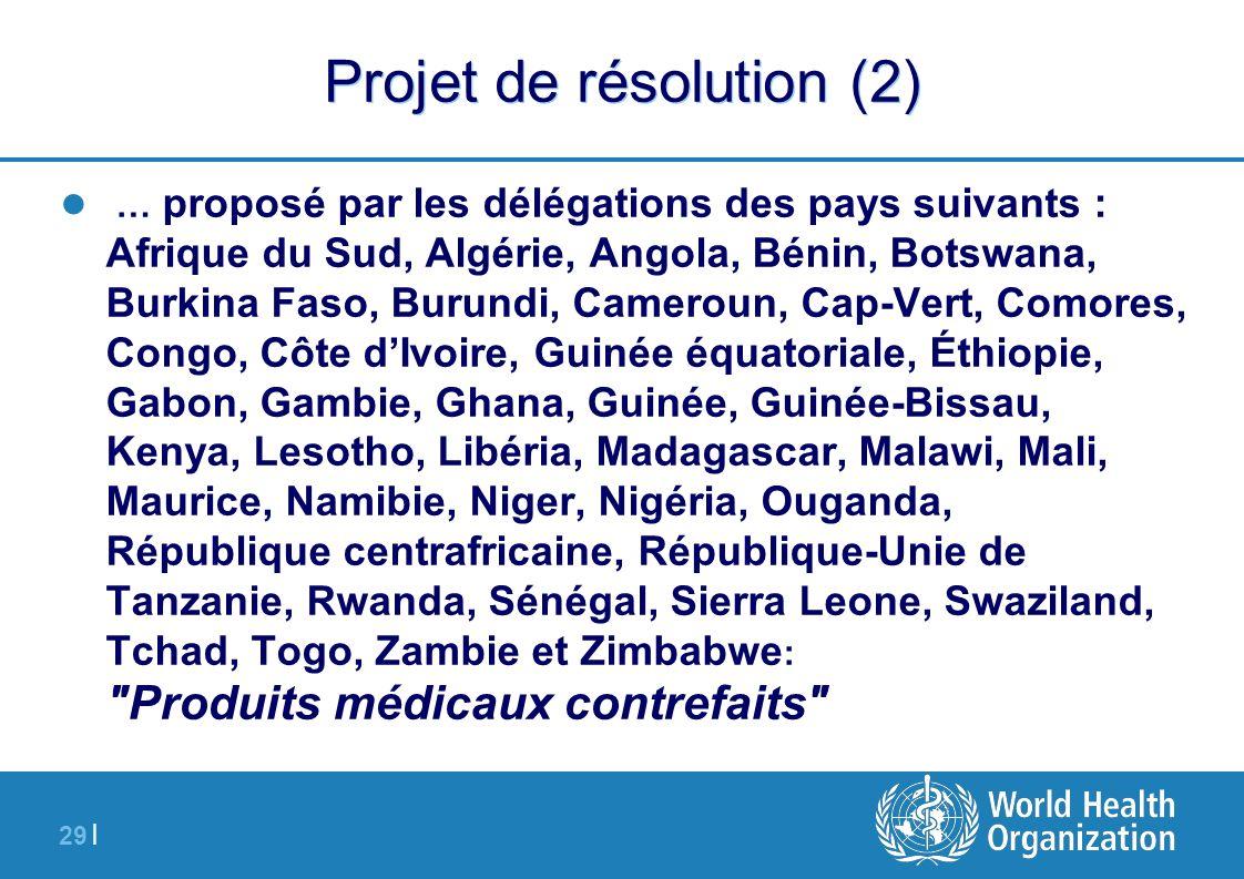 Projet de résolution (2)