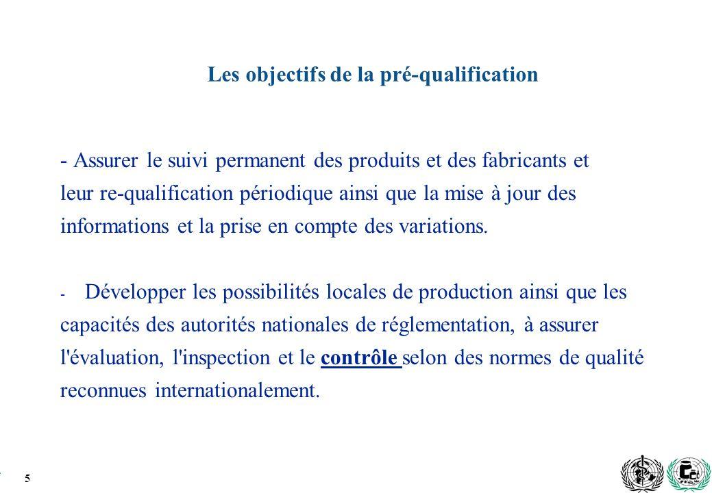 Les objectifs de la pré-qualification