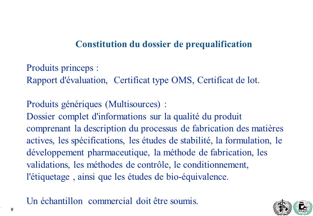 Constitution du dossier de prequalification