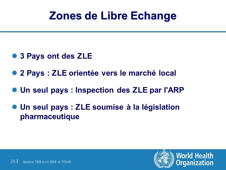 Zones de Libre Echange 3 Pays ont des ZLE