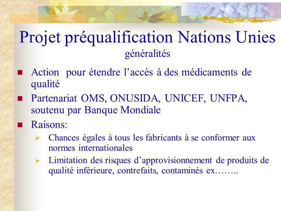 Projet préqualification Nations Unies généralités