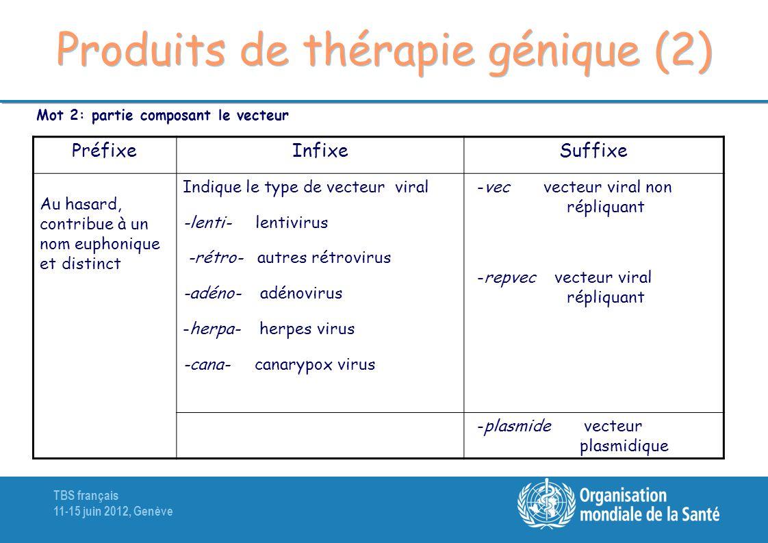 Produits de thérapie génique (2)