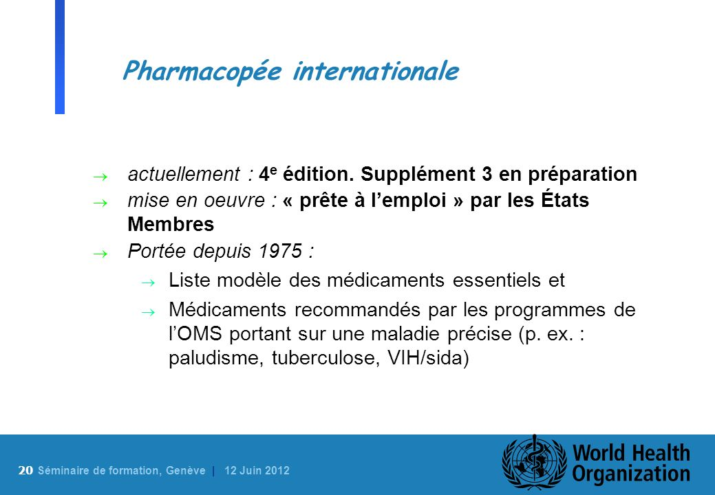 Pharmacopée internationale