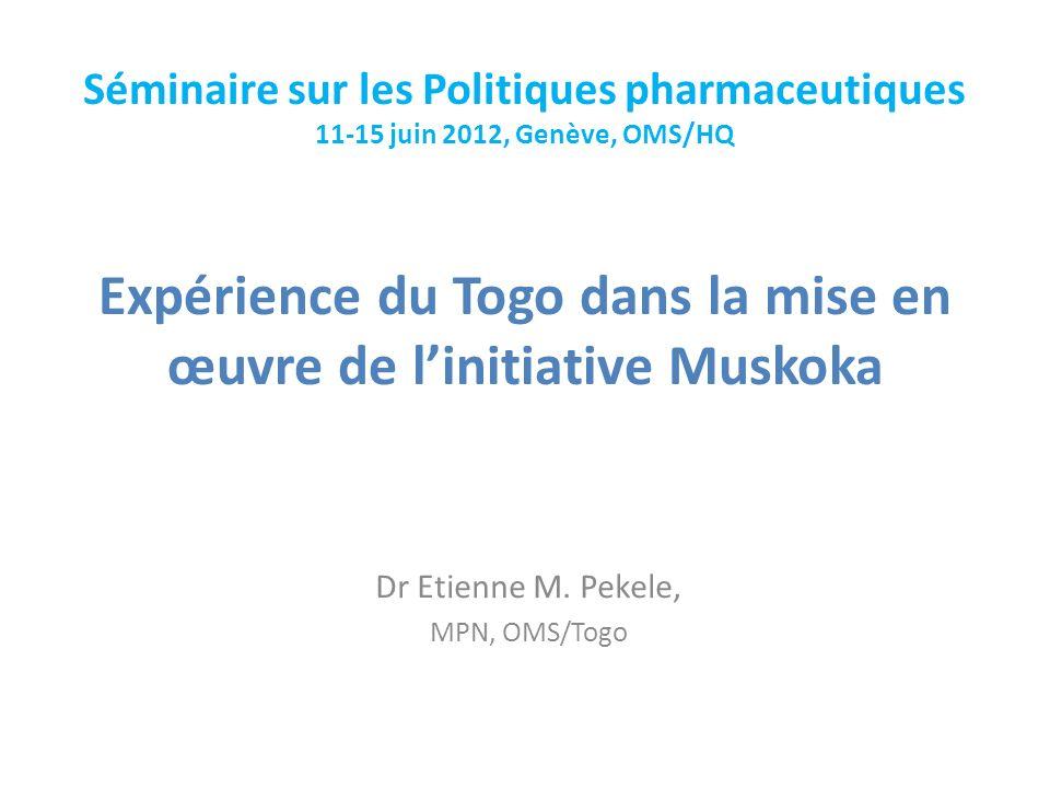 Expérience du Togo dans la mise en œuvre de l'initiative Muskoka