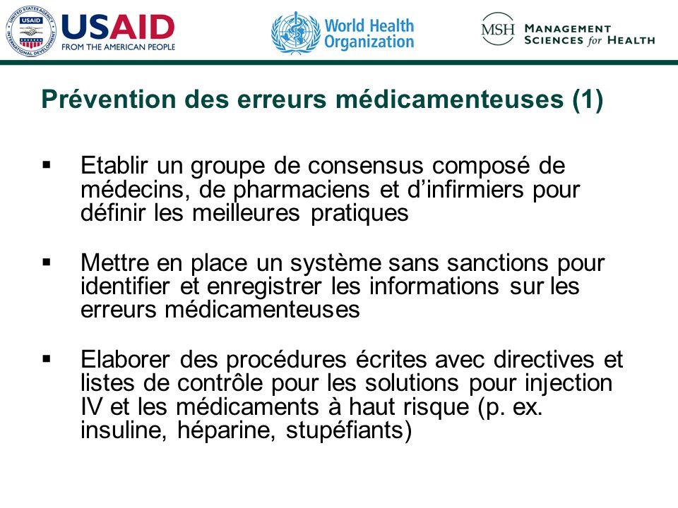 Prévention des erreurs médicamenteuses (1)