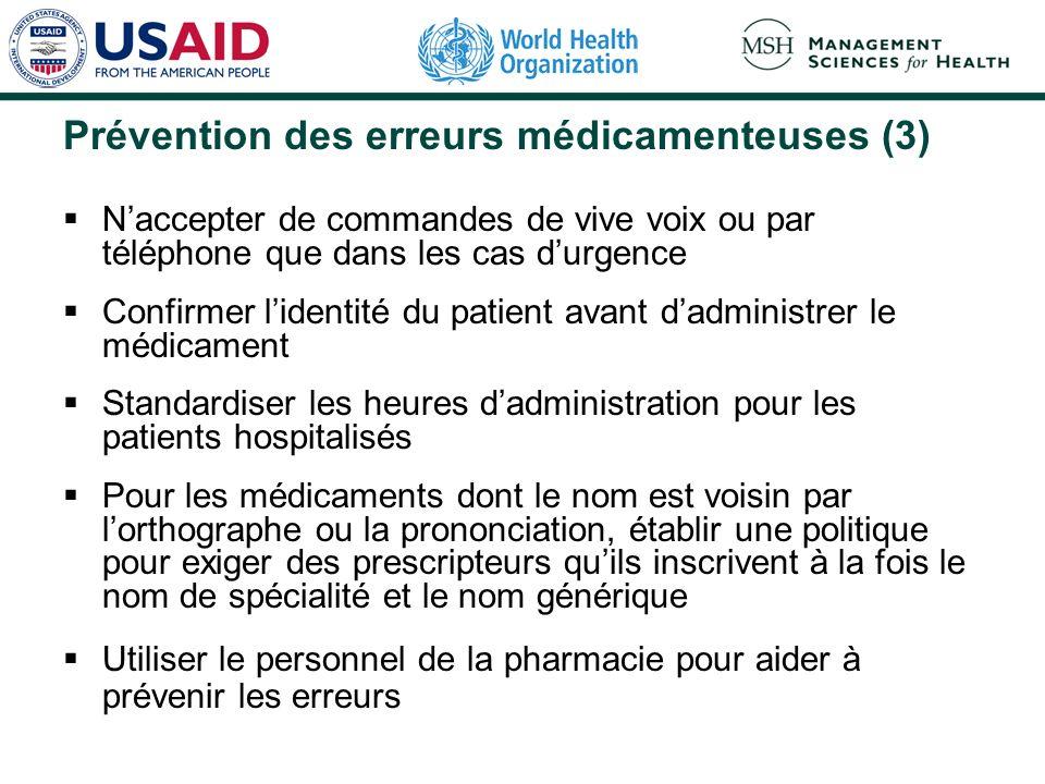Prévention des erreurs médicamenteuses (3)