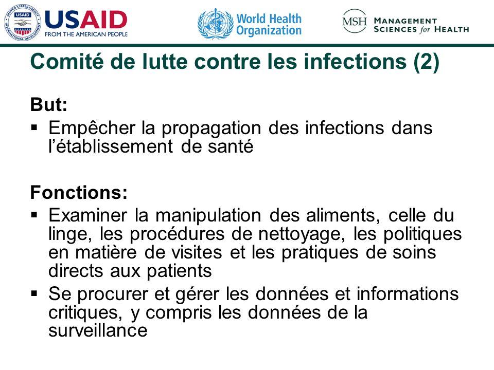 Comité de lutte contre les infections (2)