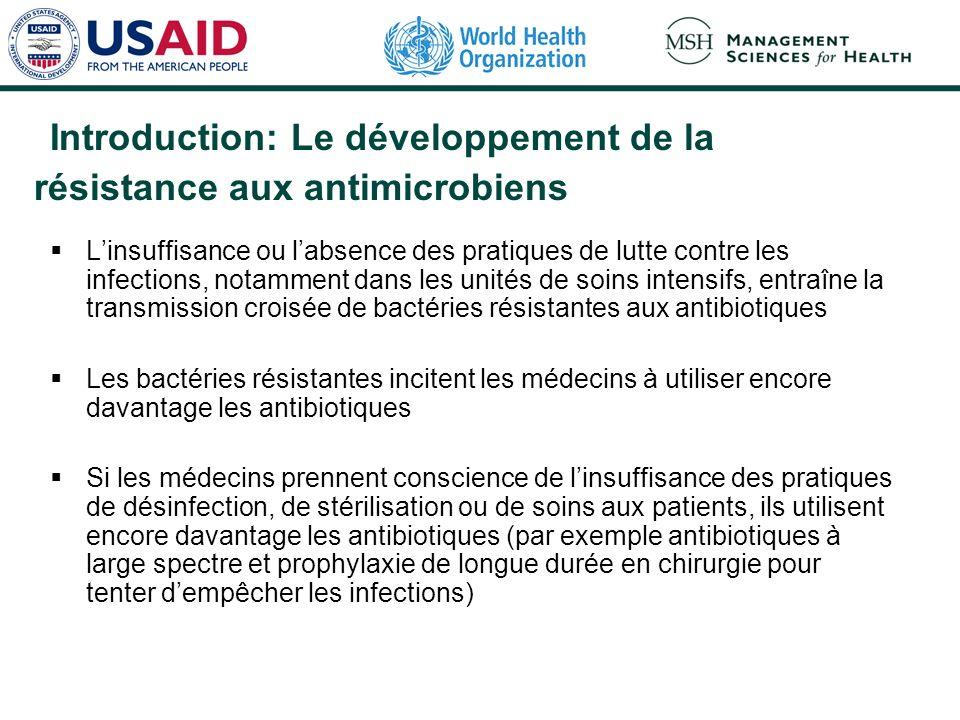 Introduction: Le développement de la résistance aux antimicrobiens