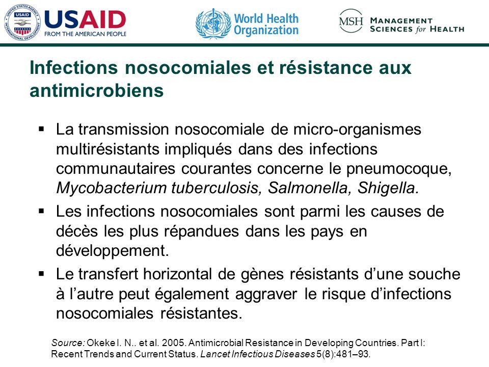 Infections nosocomiales et résistance aux antimicrobiens