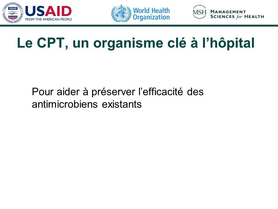 Le CPT, un organisme clé à l'hôpital