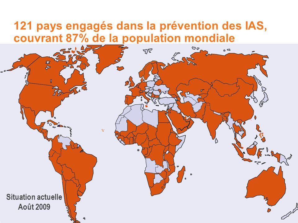 121 pays engagés dans la prévention des IAS, couvrant 87% de la population mondiale