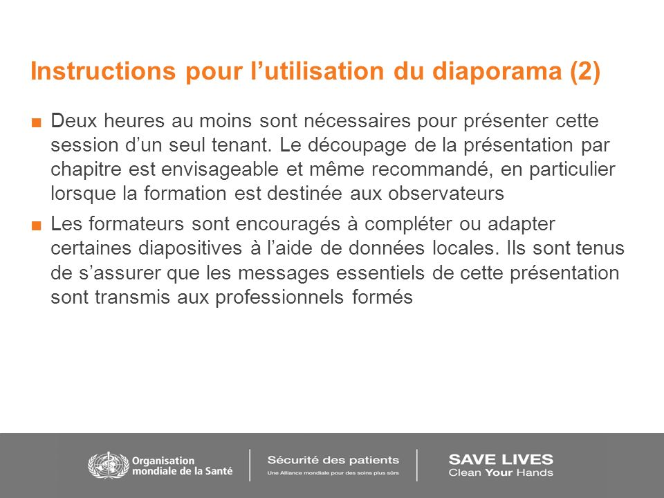 Instructions pour l'utilisation du diaporama (2)