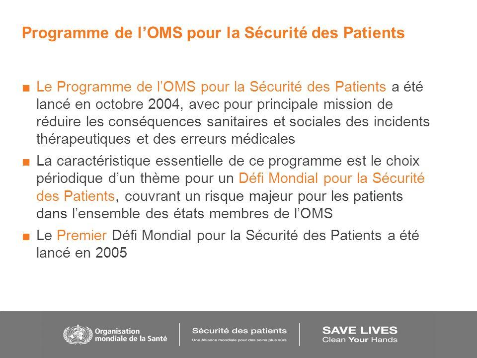 Programme de l'OMS pour la Sécurité des Patients