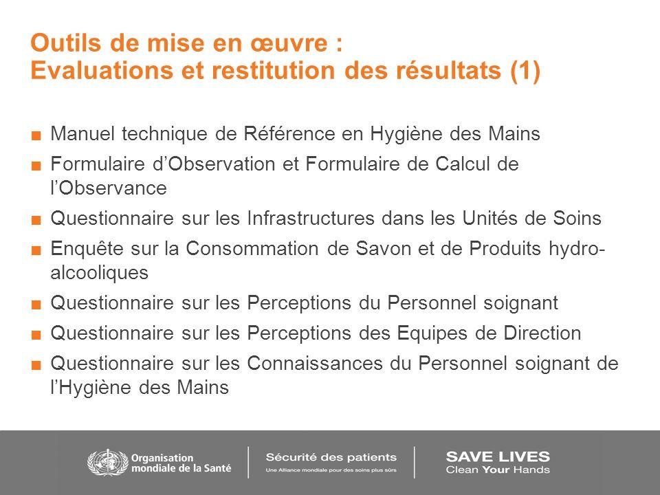 Outils de mise en œuvre : Evaluations et restitution des résultats (1)