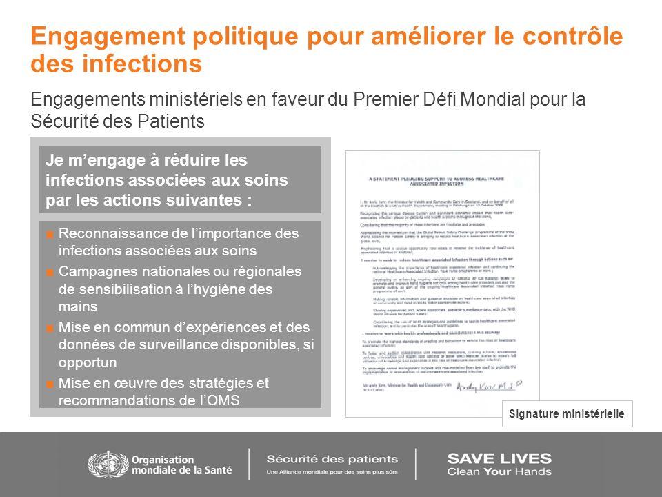 Engagement politique pour améliorer le contrôle des infections