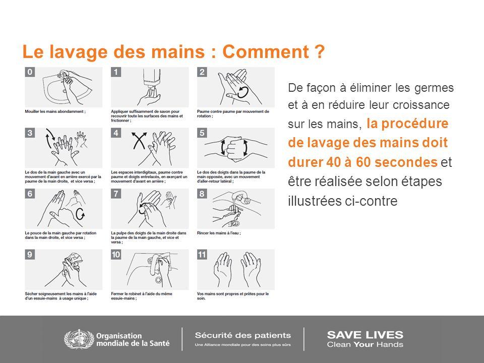 Le lavage des mains : Comment