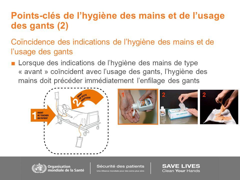 Points-clés de l'hygiène des mains et de l'usage des gants (2)