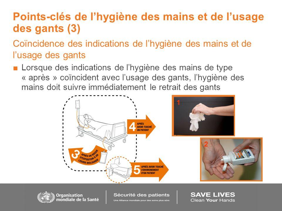 Points-clés de l'hygiène des mains et de l'usage des gants (3)