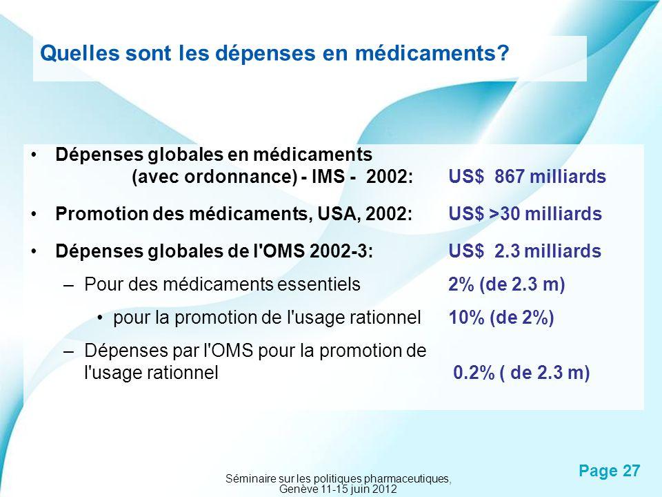 Quelles sont les dépenses en médicaments