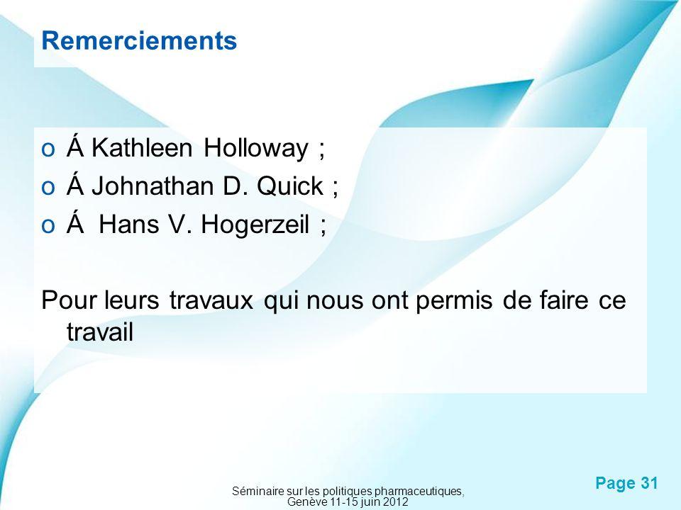 Séminaire sur les politiques pharmaceutiques, Genève 11-15 juin 2012