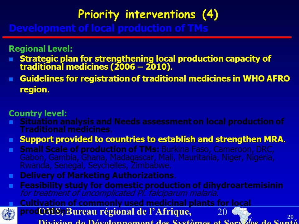 Priority interventions (4)