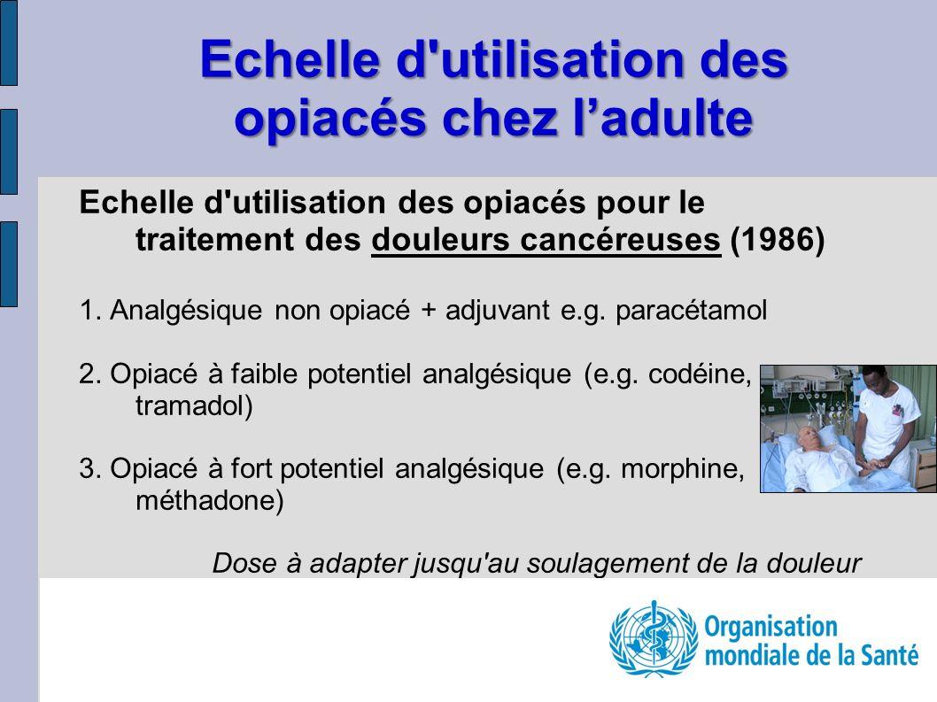 Echelle d utilisation des opiacés chez l'adulte